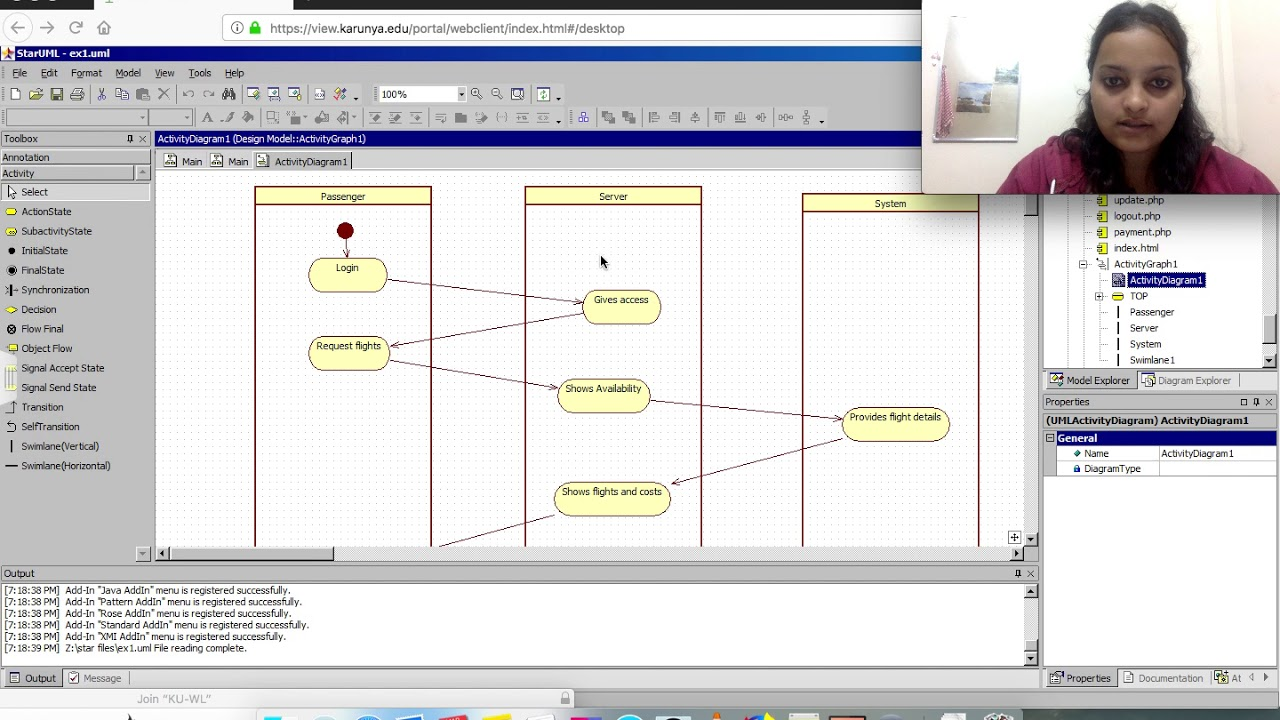 activity diagram for airline reservation system(with swimlane)