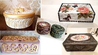 5 Beautiful jewelry boxes ideas / Home decor ideas