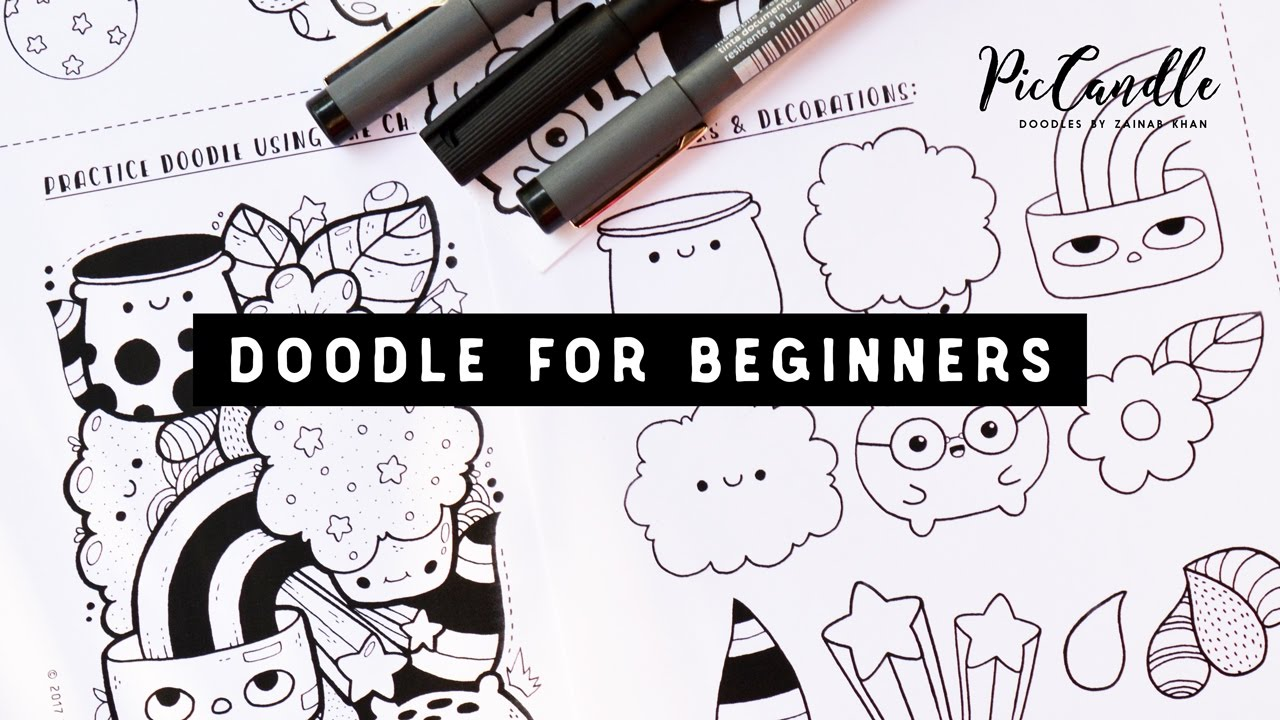 Doodle For Beginners Draw With Me Step By Step Youtube