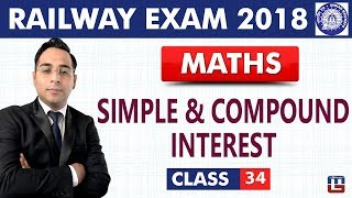 Simple & Compound Interest | Maths | Class - 34 | RRB | Railway ALP / Group D | Live At 9 PM