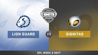 SPL Spring Split Week 2 EU Lion Guard vs. Team Dignitas Game 1