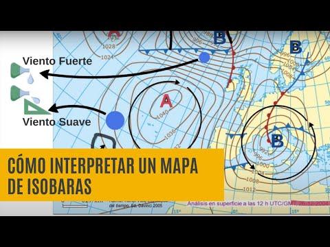 Cómo interpretar un mapa de Isobaras (Predicción Tiempo)