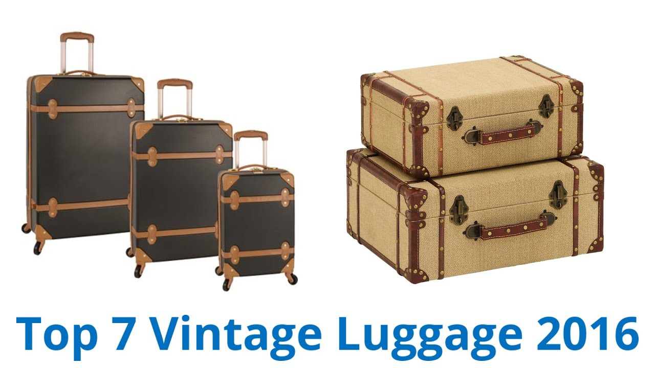 7 Best Vintage Luggage 2016 - YouTube