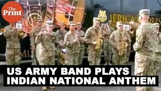 WATCH: US army band plays Indian national anthem during Yudh Abhyas 2019