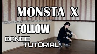 MONSTA X - FOLLOW dance tutorial by E.R.I mirroredзеркальное