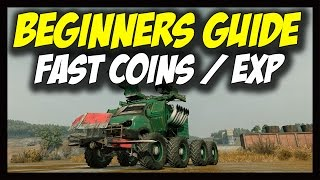 ► Crossout - Fast Coins/Credits and Fast Leveling/Experience (EXP) - Beginners Tutorial / Guide
