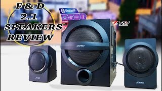 F amp D A140X 2 1 Channel Multimedia Bluetooth Speakers Unboxing And Full Review - Urdu