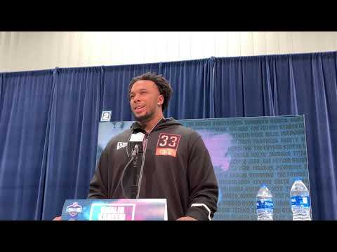 Notre Dame's Defensive End Khalid Kareem at 2020 NFL Scouting Combine