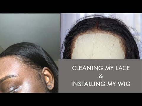 HOW TO CLEAN OFF BUILD UP ON YOUR LACE FRONTAL ft. UNice Hair