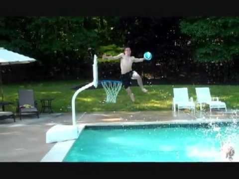 Amazing Pool Basketball Dunks 4 - YouTube