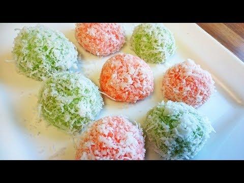Indonesian Sweet Potato Klepon / Malaysian Onde-Onde / How to Make Klepon