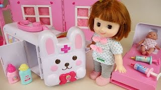 Video Baby doll Rabbit ambulance Hospital toys play with Pororo download MP3, 3GP, MP4, WEBM, AVI, FLV Desember 2017