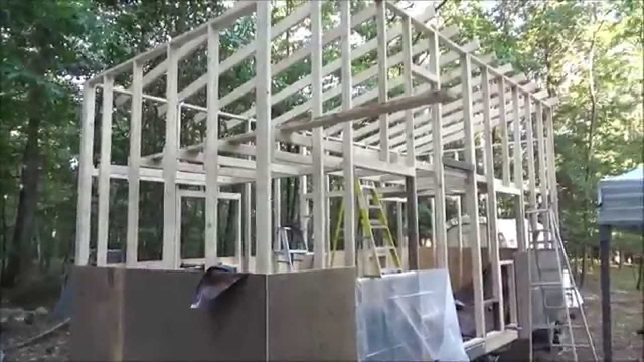 Framing My Tiny House Rafters And Mounting Sheathing YouTube