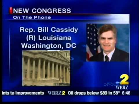 Cassidy on WBRZ - First Day of the 112th Congress