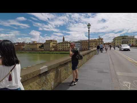 Florence Italy Virtual Walking Tour 4K