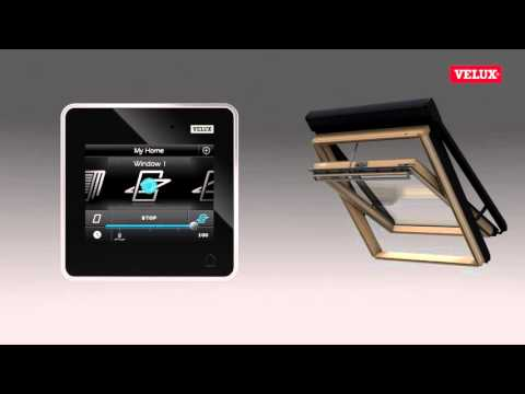 VELUX Electric Windows INTEGRA Control Pad - YouTube on