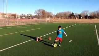 part1 soccer drills with hurdles by adam u6 u7 u8