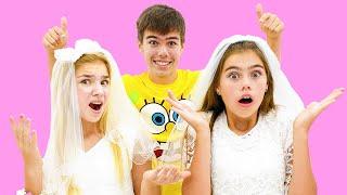 Nastya und Maggie sind im Begriff Artem zu heiraten