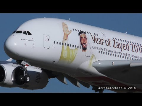 [FULL HD] Emirates A380 'Year of Zayed 2018 Livery'