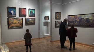 ГМР. Открытие экспозиции «Творчество Н.К. и С.Н. Рерихов» в Музее Рерихов