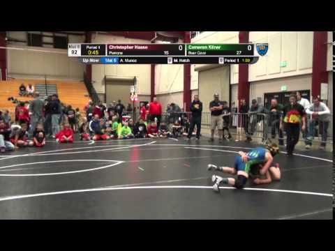 Dual #7 - 92 LBS - Christopher Haase (Pomona) vs. Cameron Kilner (Bear Cave)