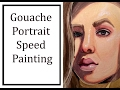 Small Gouache Portrait Speed Painting