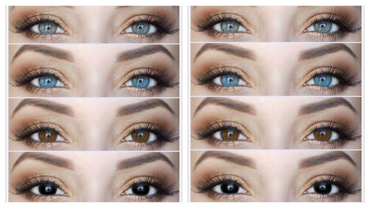como hacer que mis ojos marrones se vean mas claros