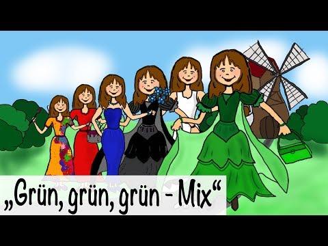 🎵 Grün, grün, grün sind alle meine Kleider + 30 Min. deutsche Kinderlieder - Kinderlieder deutsch