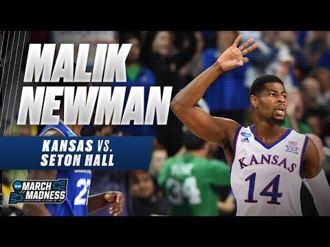 Malik Newman leads Kansas past Seton Hall into the Sweet 16