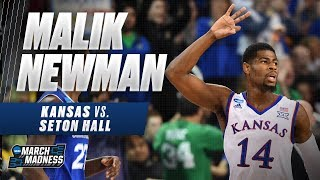 Malik Newman leads Kansas past Seton Hall into the Sweet 16