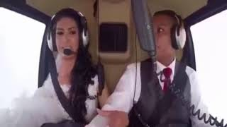 Летевшая на свадьбу невеста на верталёте погибла  видео 06 07 2017