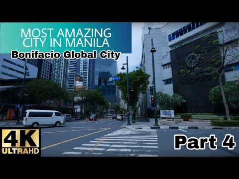 【4K】Walking Around BGC – Bonifacio Global City, Taguig Part 4