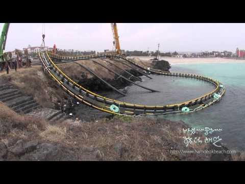 함덕해안 Tuna Farm Launching Ceremony in Hamdeok Beach Jeju Korea 2013 01 13 참다랑어