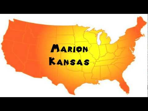 How to Say or Pronounce USA Cities — Marion, Kansas