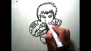 Cara Menggambar Gaara chibi (How to draw Gaara chibi)