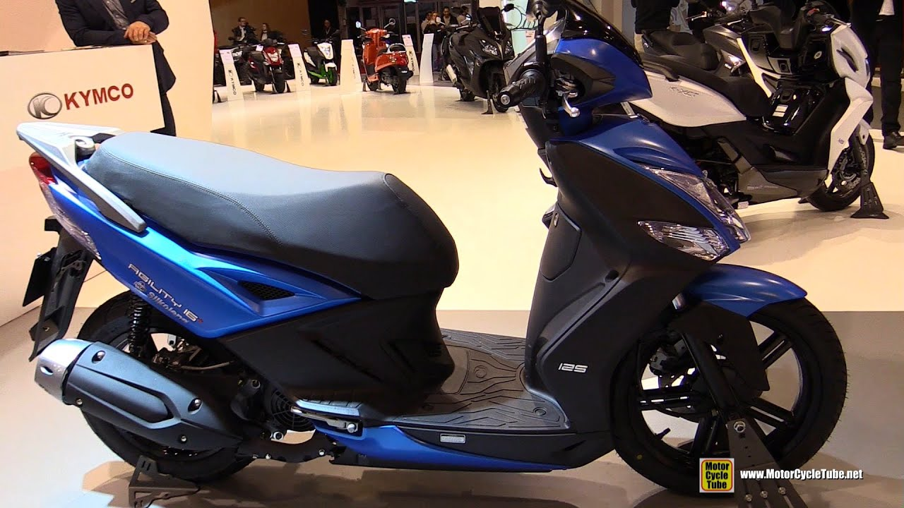 2016 kymco agility 125 city 16+ scooter - walkaround - 2015 salon