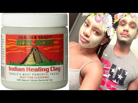 Aztec Secret Indian Healing Clay Mask Demo (How to) Smoother Skin After One Use!