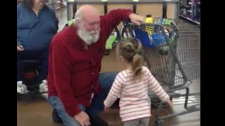 Little Girl Thinks Stranger Is Santa