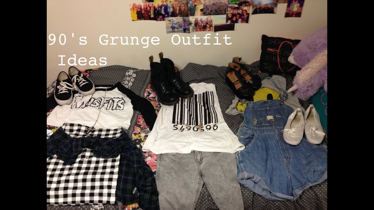 90\'s Grunge Inspired Outfit Ideas (with MissHannahMD) - YouTube