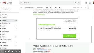 Scam / Phishing Email