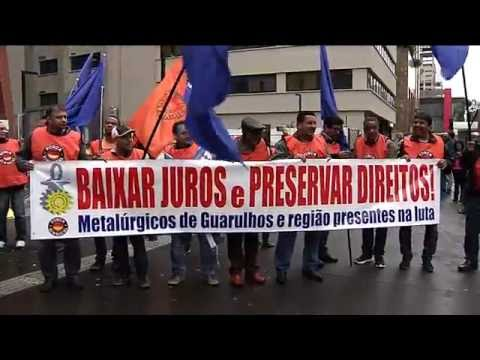 Protesto na av. Paulista contra os juros altos