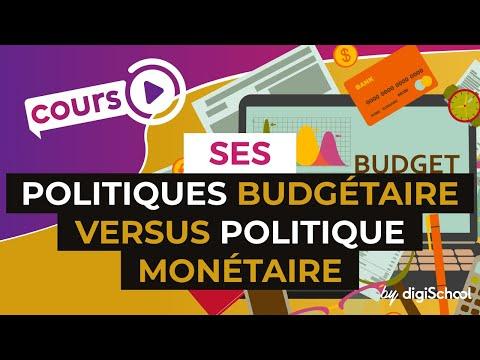 Politiques budgétaire versus politique monétaire - SES - digiSchool