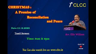 CHRISTMAS : A Promise Of Reconciliation And Peace