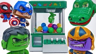 Marvelous Dinosaur Claw Machine~! Don't Touch That Thanos #ToyMartTV