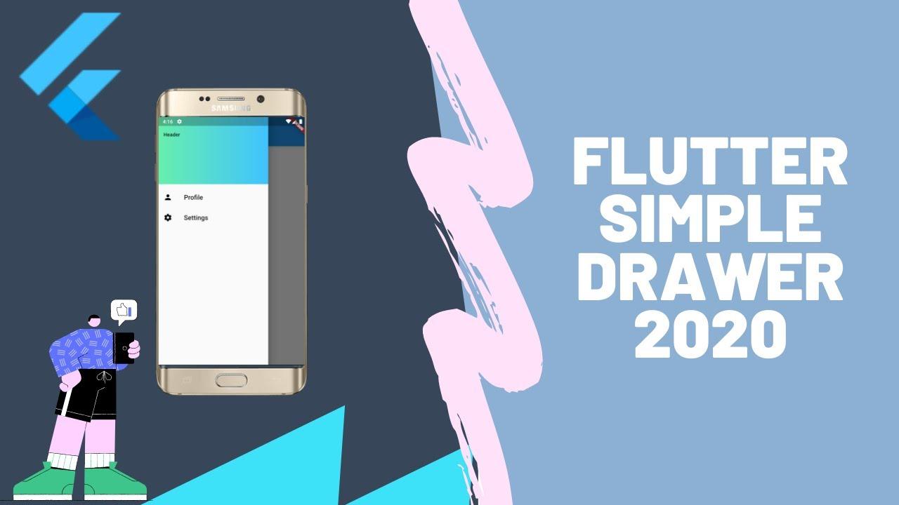 Flutter Simple Drawer - Flutter Tutorials