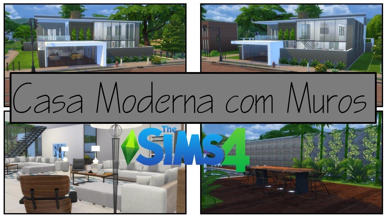 The sims 4 constru o casa moderna com muros parte 1 for Casa moderno kl
