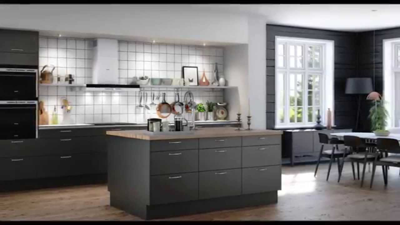 Decoracion De Cocinas Modernas Fotos Cocinas Grises - Youtube