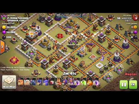 Clash of clans Perfect War 2018, Nice Attack By HeaBowitch With Impossible Skill Destroy th11 war