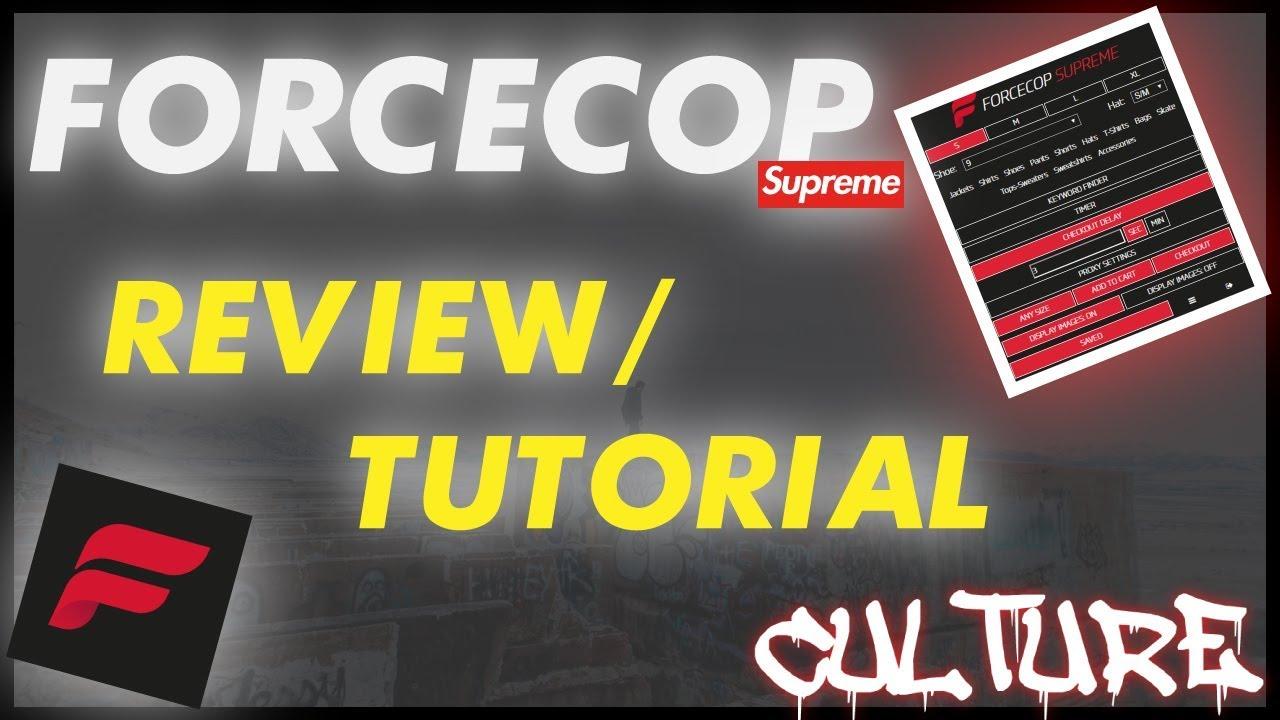 12ec6199 FORCECOP SUPREME BOT HONEST REVIEW/SETUP - YouTube