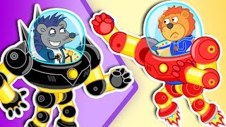Download Lion Family 🤖 Iron Robot #2. Superhero | Cartoon for Kids Mp3 and Videos